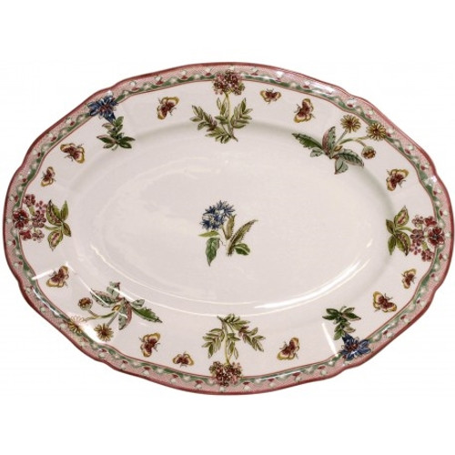 Gien France Jardin Imaginaire Oval Platter