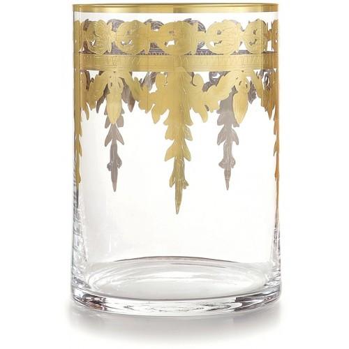 Arte Italica Baroque Gold Waste Basket