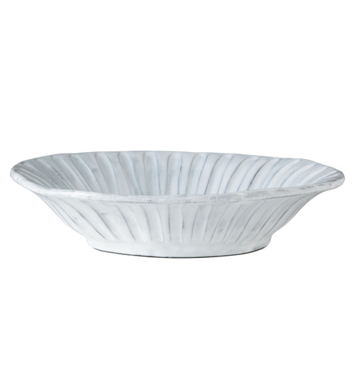 Vietri Incanto White Stripe Pasta Bowl
