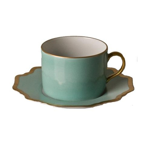 Anna Weatherley Anna's Palette - Aqua Green Tea Saucer