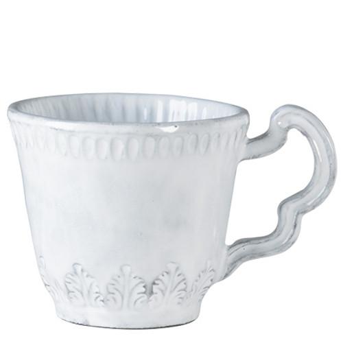 Vietri Incanto White Leaf Mug