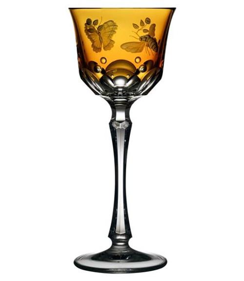 Varga Crystal Springtime Amber Wine Glass