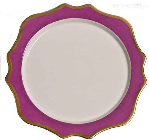 Anna Weatherley Anna's Palette - Purple Orchid Charger