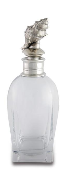 Vagabond House Conch Shell Liquor Decanter-Short