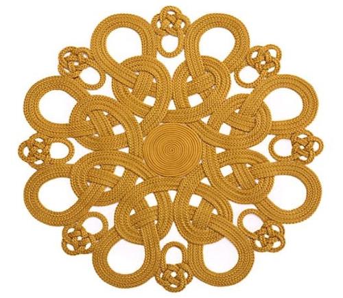 Julian Mejia Design Daisy Placemat (Metallic Gold)