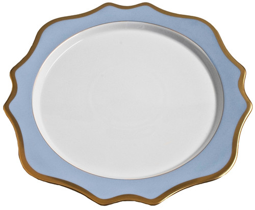 Anna Weatherley Anna's Palette Sky Blue Charger
