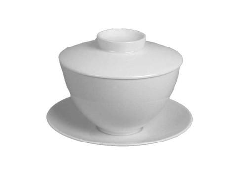 J.L. Coquet Hemisphere White Asian Tea Saucer
