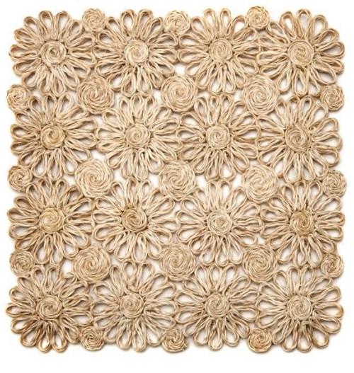 Deborah Rhodes Natural Patchwork Daisy Square Placemat