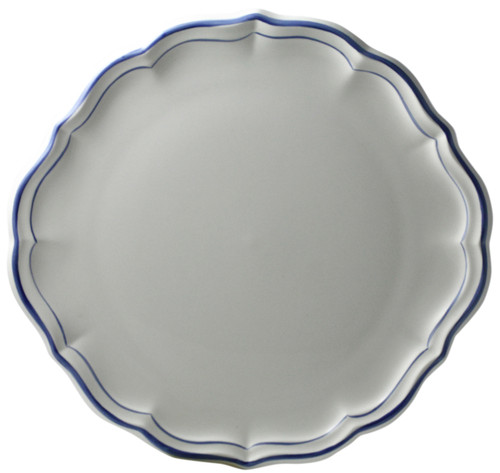 Gien France Filet Bleu Cake Platter