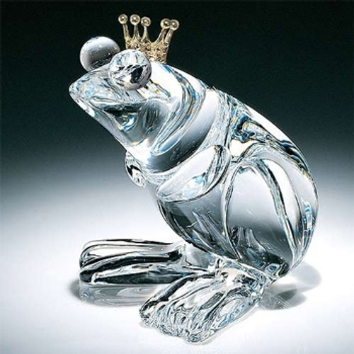 Steuben Glass Frog Prince
