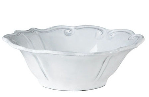 Vietri Incanto White Baroque Cereal Bowl