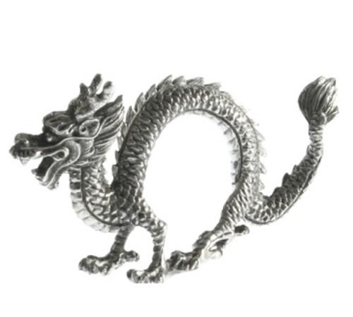 Vagabond House Dragon Pewter Napkin Rings (Set of 4)