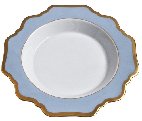 Anna Weatherley Anna's Palette Sky Blue Rim Soup Plate