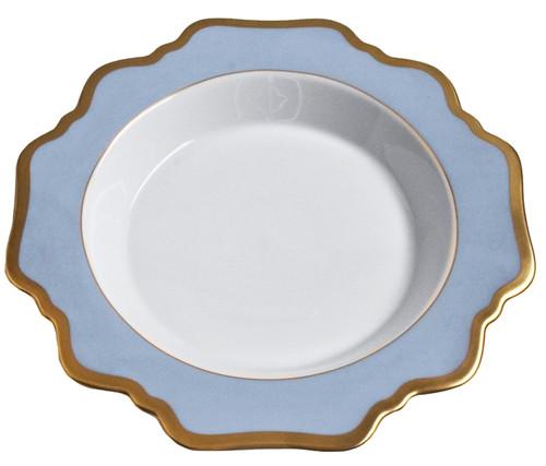 Anna Weatherley Anna's Palette Sky Blue Rim Soup Plate