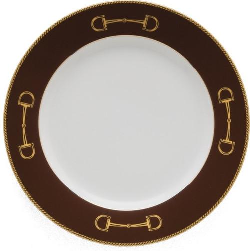 Julie Wear Cheval Chestnut Brown Luncheon Plate