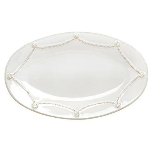 Juliska Berry and Thread White Medium Oval Platter