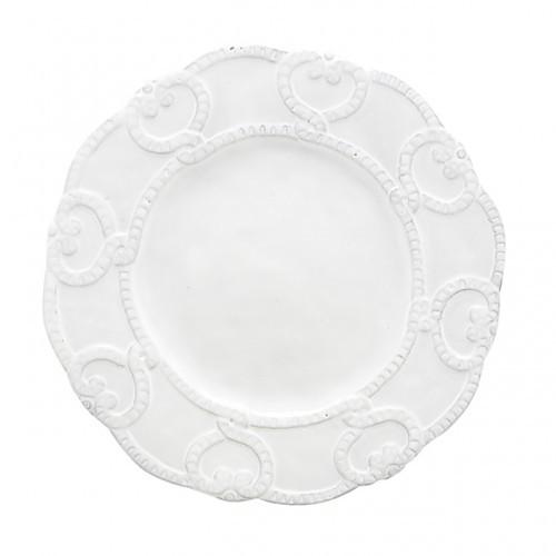 Arte Italica Bella Bianca Antique Lace Salad/Dessert Plate