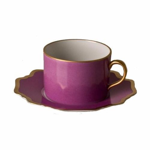 Anna Weatherley Anna's Palette - Purple Orchid Tea Saucer