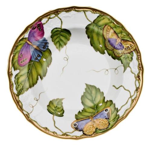 Anna Weatherley Exotic Butterflies Rim Soup Plate