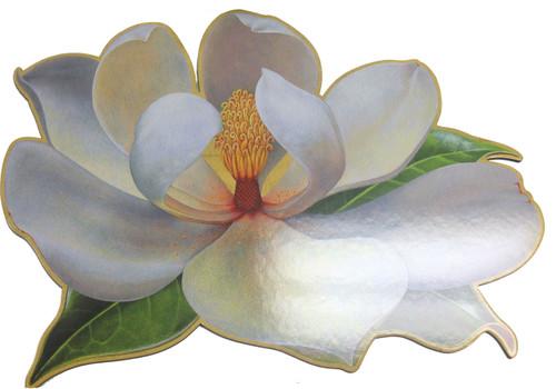 Caspari Magnolia Die-Cut Placemat