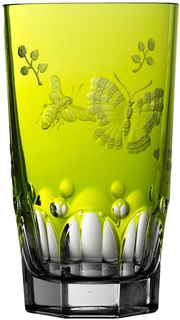 Varga Crystal Springtime Yellow/Green Highball Glass
