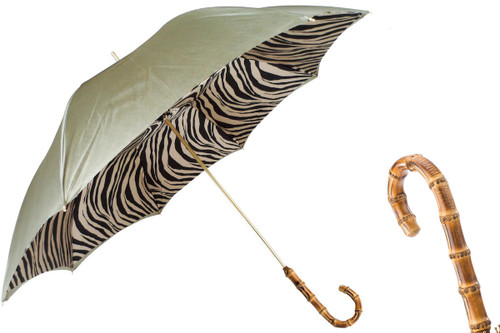 28401e0168c0a Pasotti Green Umbrella with Zebra Interior