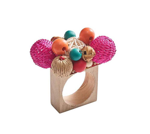 Java Napkin Ring, Set of 4 by Kim Seybert