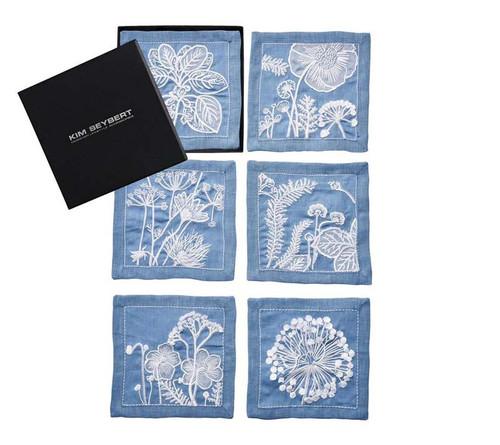 Sunprint Cocktail Napkins Multi, Set of 6 in a Gift Box by Kim Seybert