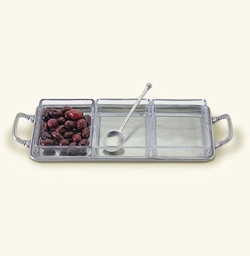 Match Pewter Crudite Tray with Handles