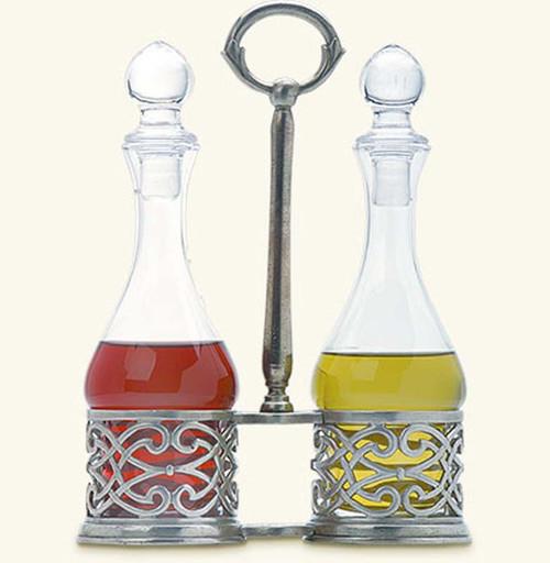 Match Pewter Cutwork Oil & Vinegar Set