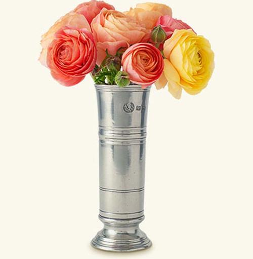Match Pewter Footed Cylinder Vase