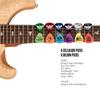 Delrin guitar picks and celluloid guitar picks and tortex guitar picks