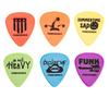 Tortex picks and nylon guitar picks