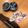 Guitar pick holders and assorted guitar pick variety pack gift