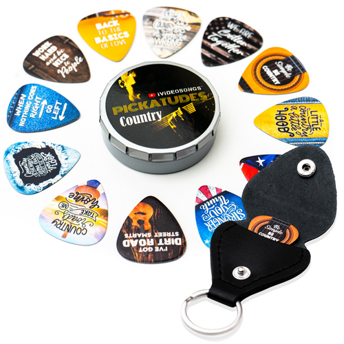 iVideosongs Pickatudes Country 12 assorted guitar picks