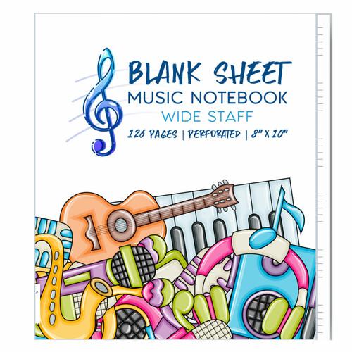 iVideosongs Kid's Wide Staff Blank Sheet Music