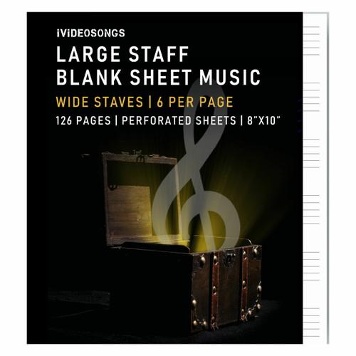 iVideosongs Wide Staff Blank Sheet Music