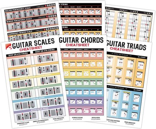 Guitar Cheatsheets 3 Pack Bundle