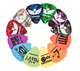 iVideosongs Pickatudes guitar picks for guitar, mandolin, bass, and ukulele