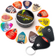 iVideosongs Pickatudes Big Pick-ture Big Picture guitar picks and pick holder keychain