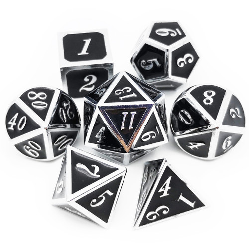 Dnd dice set black