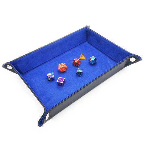 Haxtec Leather dice tray dnd blue