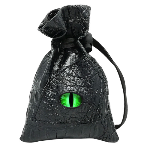 Dragon Eye Leather Dice Bag-Venom-Green Eye