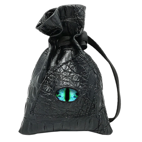 Dragon Eye Leather Dice Bag-Eternal-Blue Eye