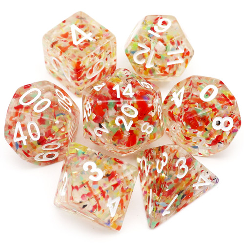 Confetti DND Dice Set-Eternal Carp