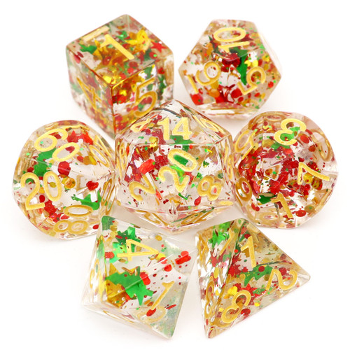 B Grade Holiday DND Dice Set-Christmas
