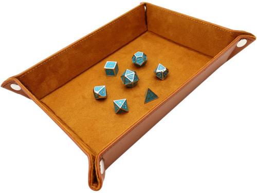 Folding dice tray camel