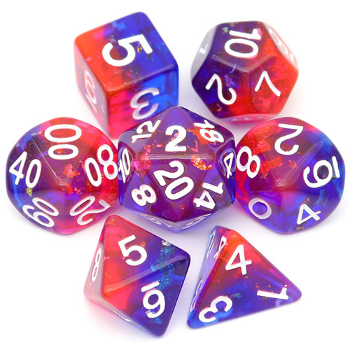 pink blue dice, rose blue dice, dice set, dnd dice, joker dice