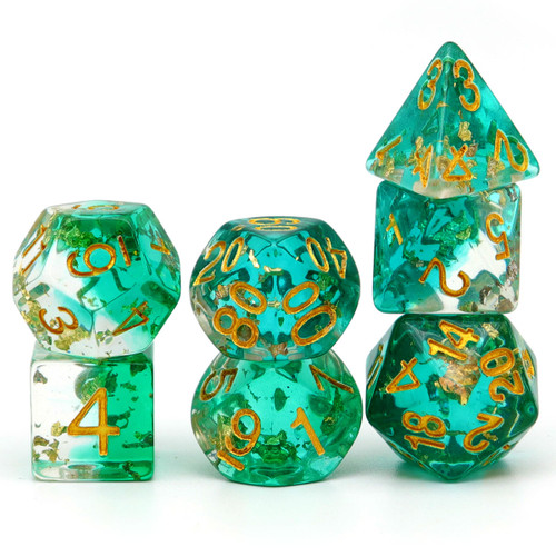 green dnd dice