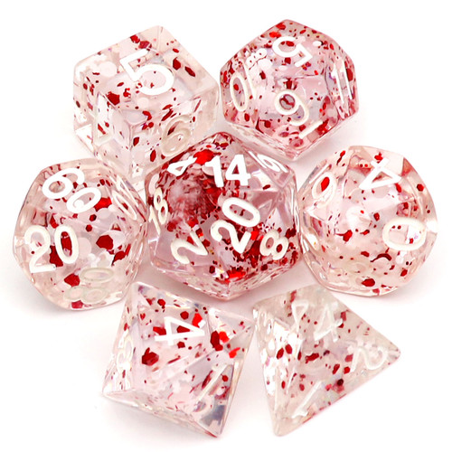 haxtec dice, white red dice, christmas dice, holiday dice